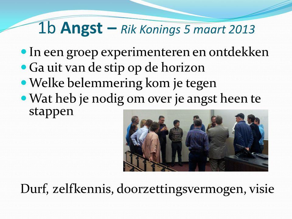 1b Angst – Rik Konings 5 maart 2013