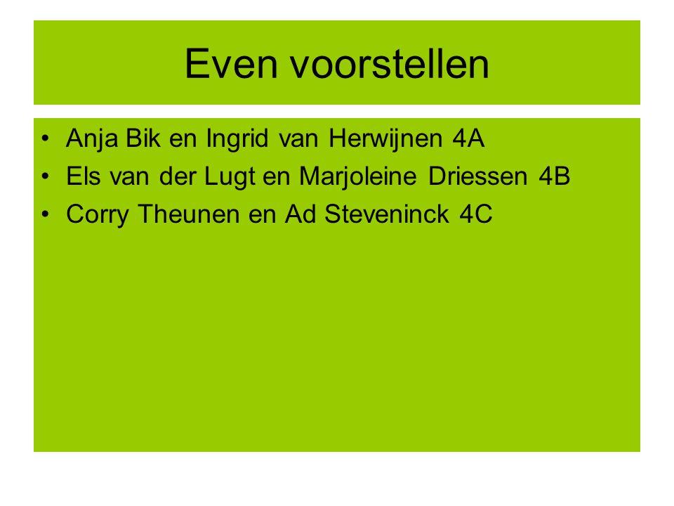 Even voorstellen Anja Bik en Ingrid van Herwijnen 4A