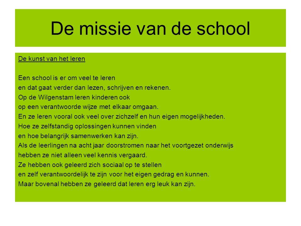 De missie van de school