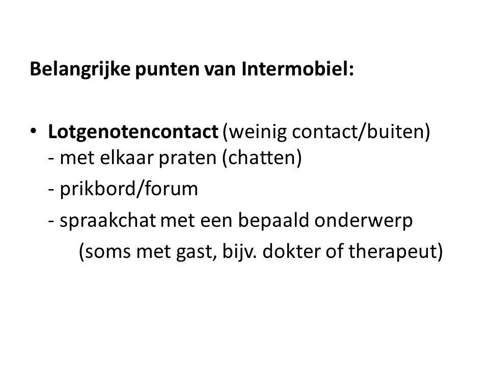 Belangrijke punten van Intermobiel: