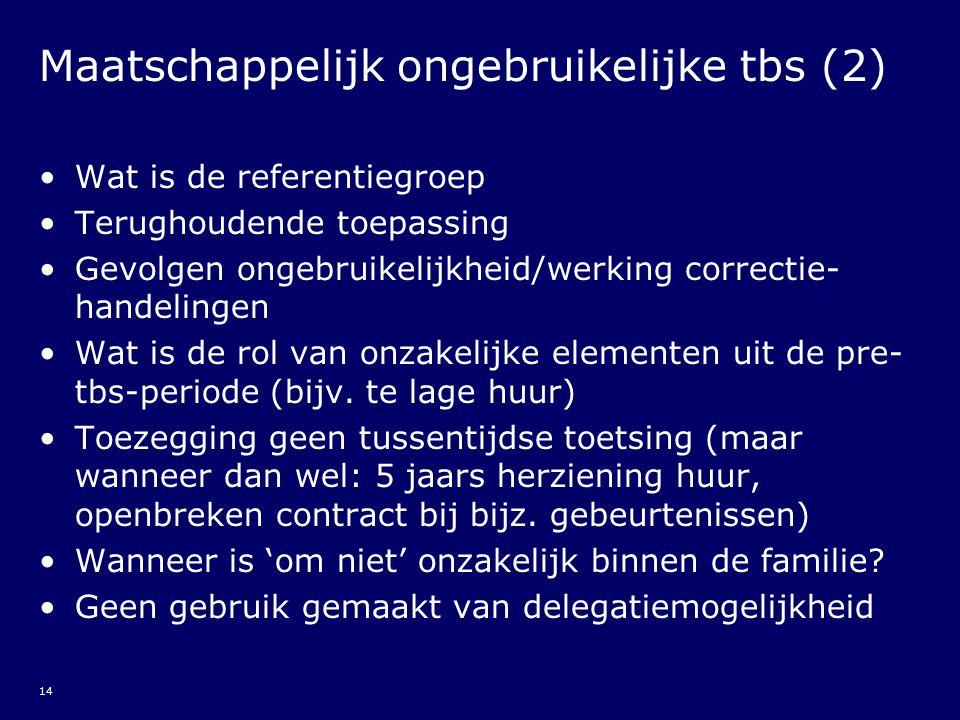 Maatschappelijk ongebruikelijke tbs (2)