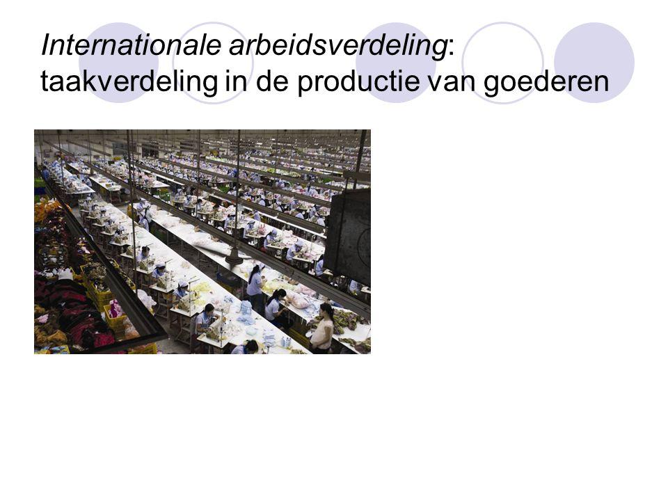Internationale arbeidsverdeling: taakverdeling in de productie van goederen