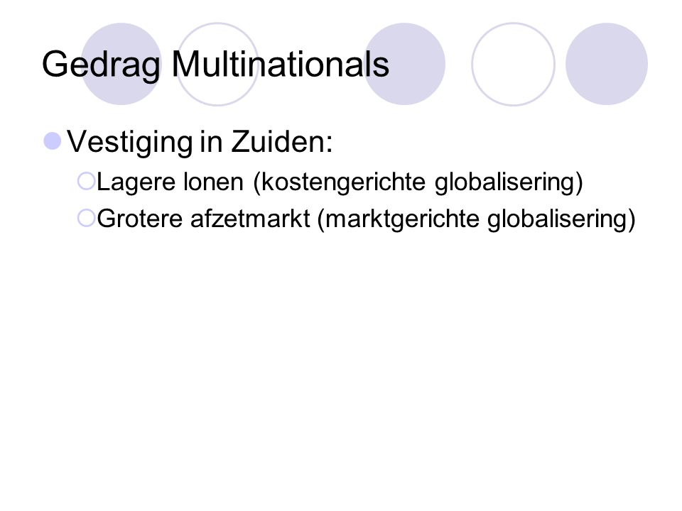 Gedrag Multinationals