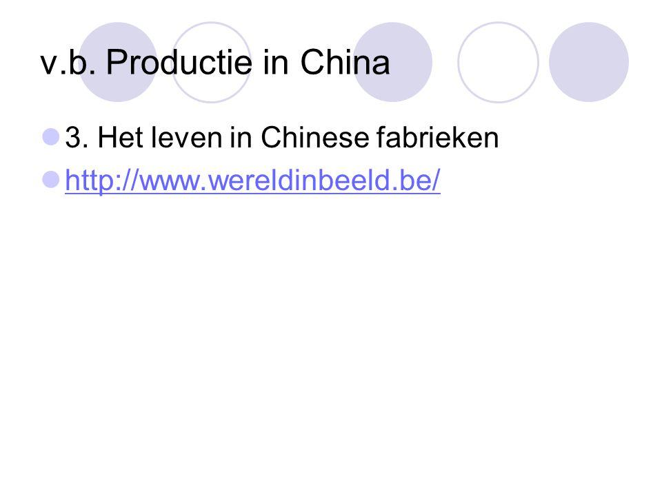 v.b. Productie in China 3. Het leven in Chinese fabrieken