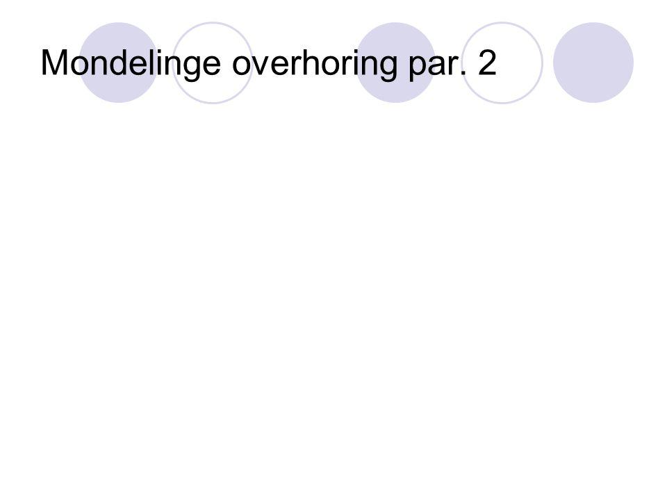 Mondelinge overhoring par. 2
