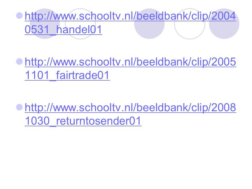 http://www.schooltv.nl/beeldbank/clip/20040531_handel01 http://www.schooltv.nl/beeldbank/clip/20051101_fairtrade01.