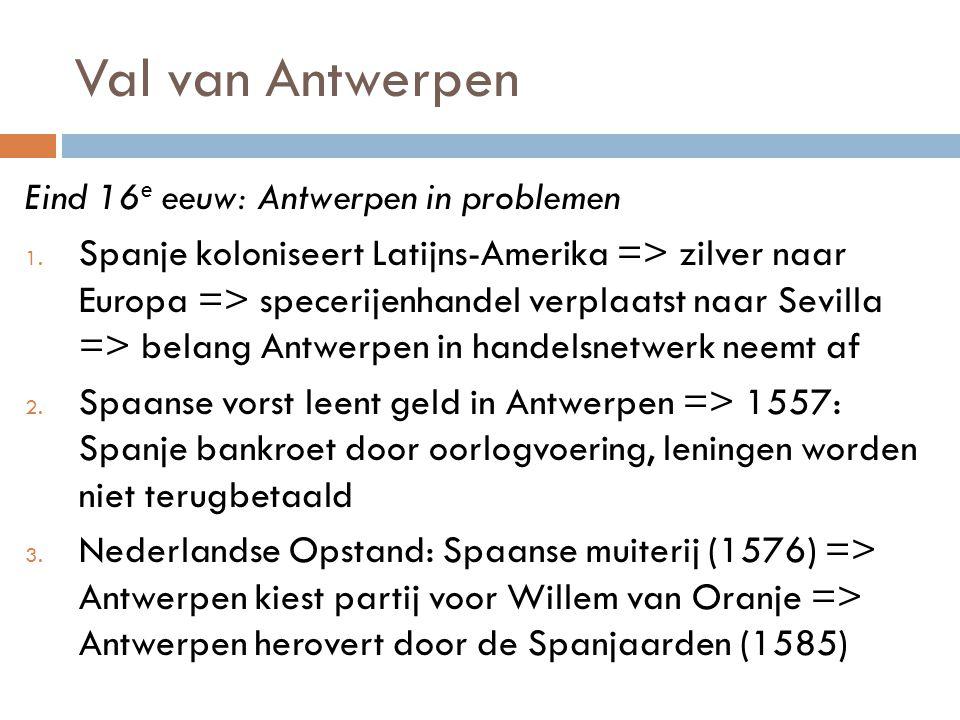 Val van Antwerpen Eind 16e eeuw: Antwerpen in problemen