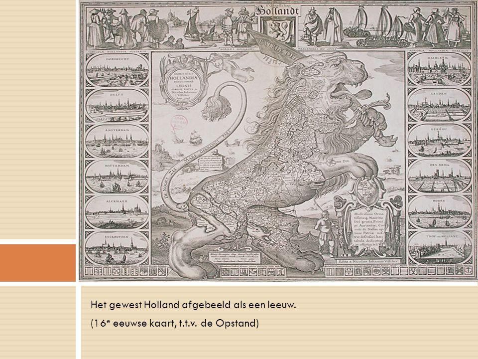 Het gewest Holland afgebeeld als een leeuw.