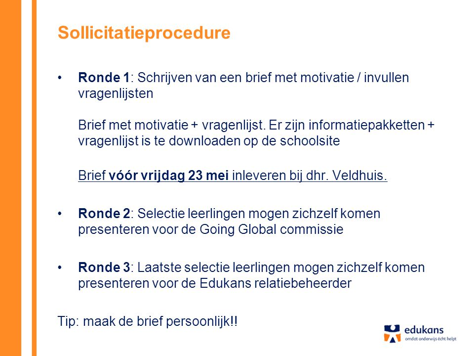 Sollicitatieprocedure