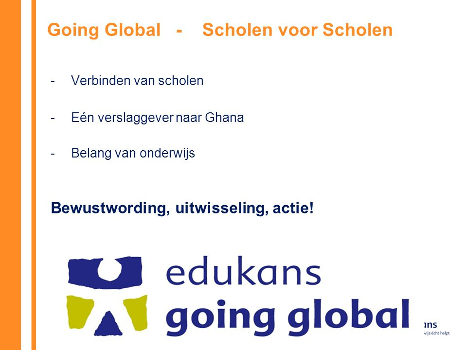 Going Global - Scholen voor Scholen
