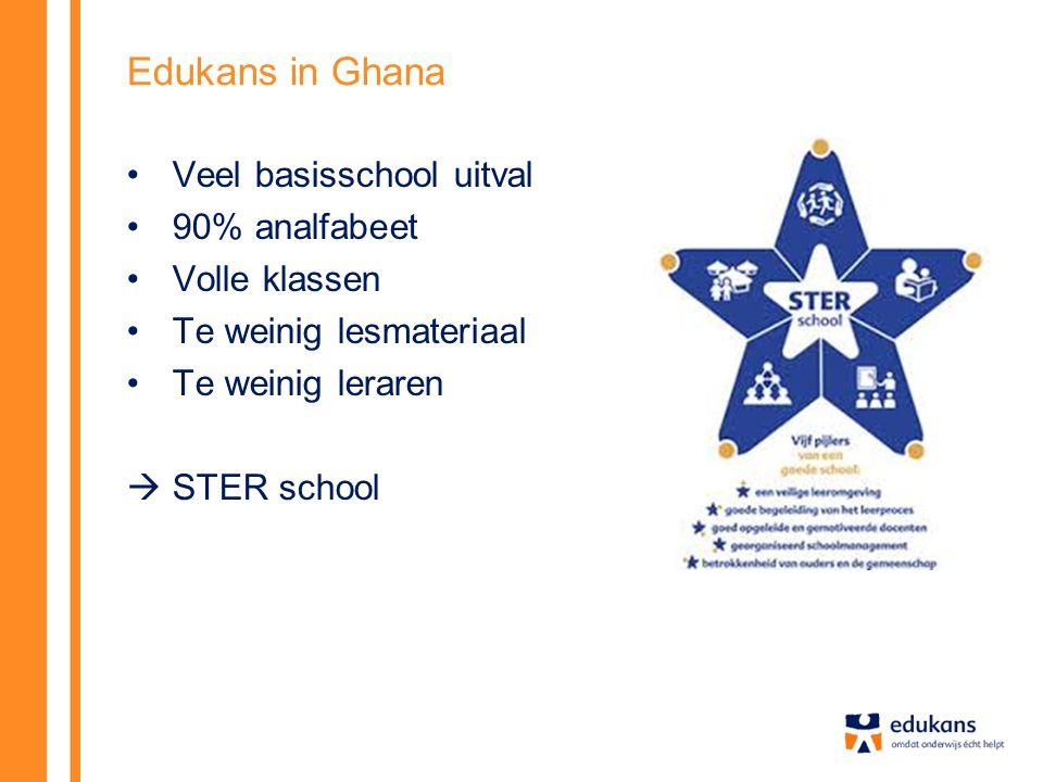 Edukans in Ghana Veel basisschool uitval 90% analfabeet Volle klassen