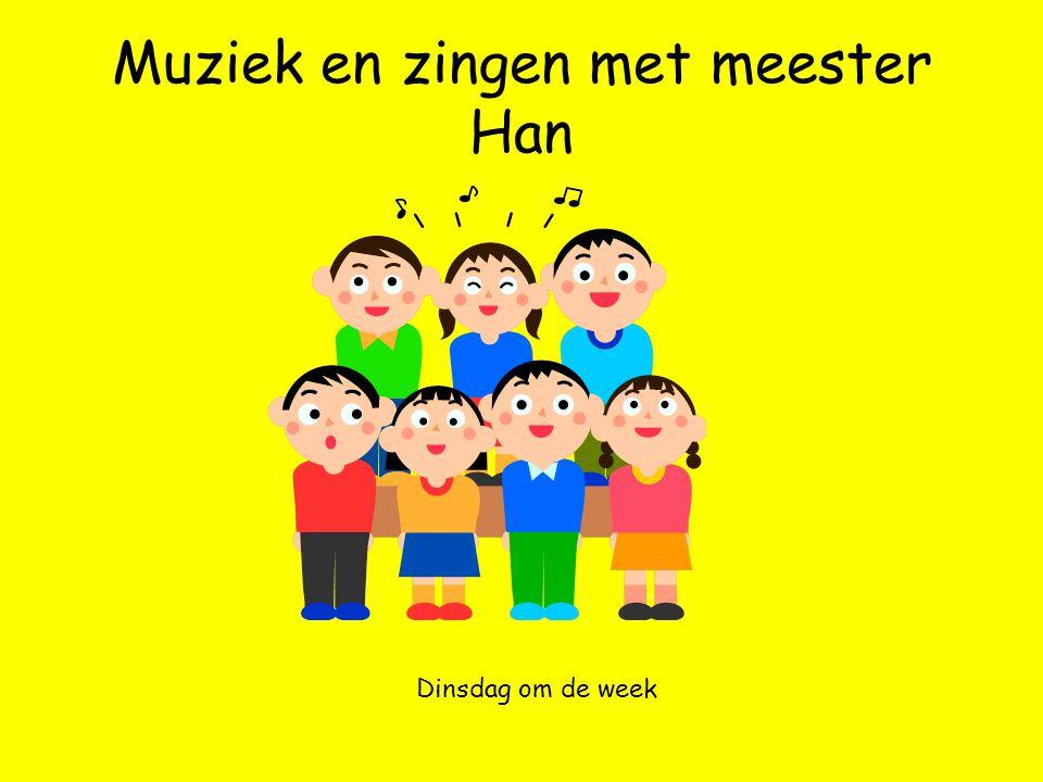 Muziek en zingen met meester Han