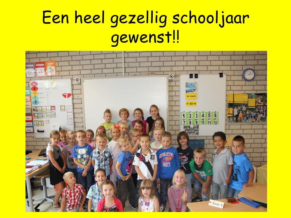 Een heel gezellig schooljaar gewenst!!