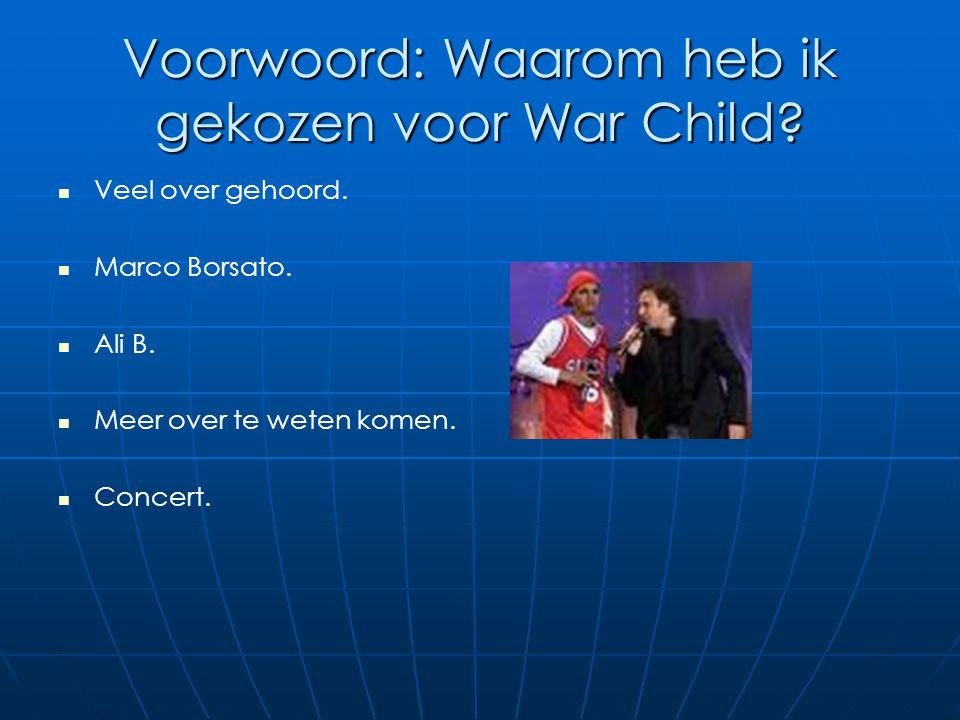 Voorwoord: Waarom heb ik gekozen voor War Child
