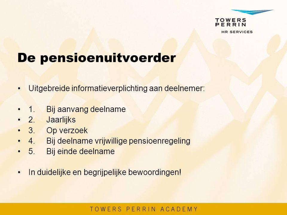 De pensioenuitvoerder