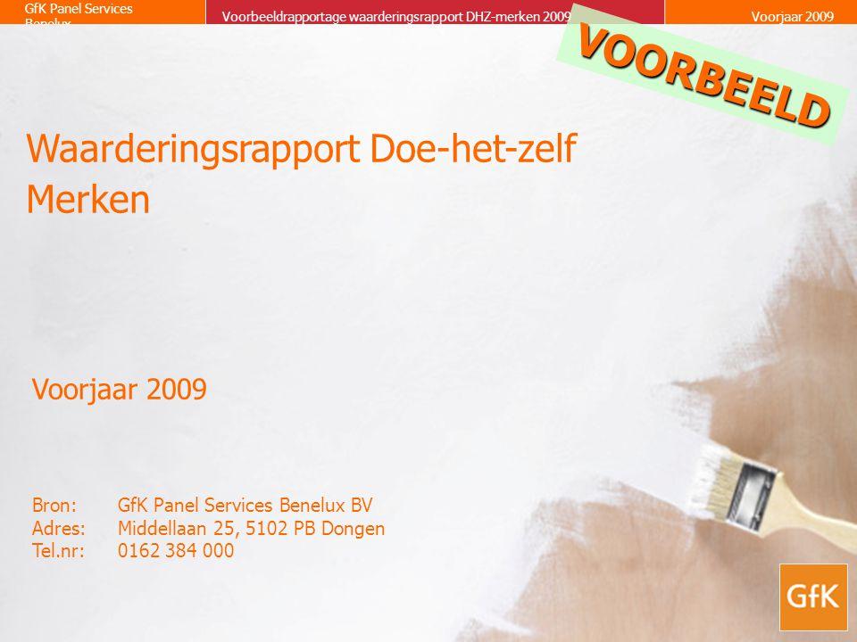 VOORBEELD Waarderingsrapport Doe-het-zelf Merken Voorjaar 2009