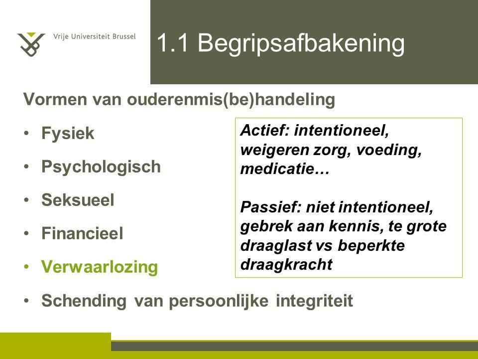 1.1 Begripsafbakening Vormen van ouderenmis(be)handeling Fysiek