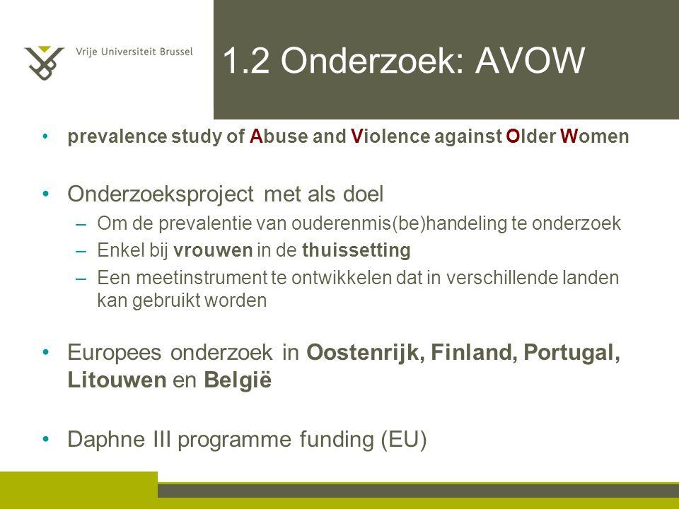1.2 Onderzoek: AVOW Onderzoeksproject met als doel