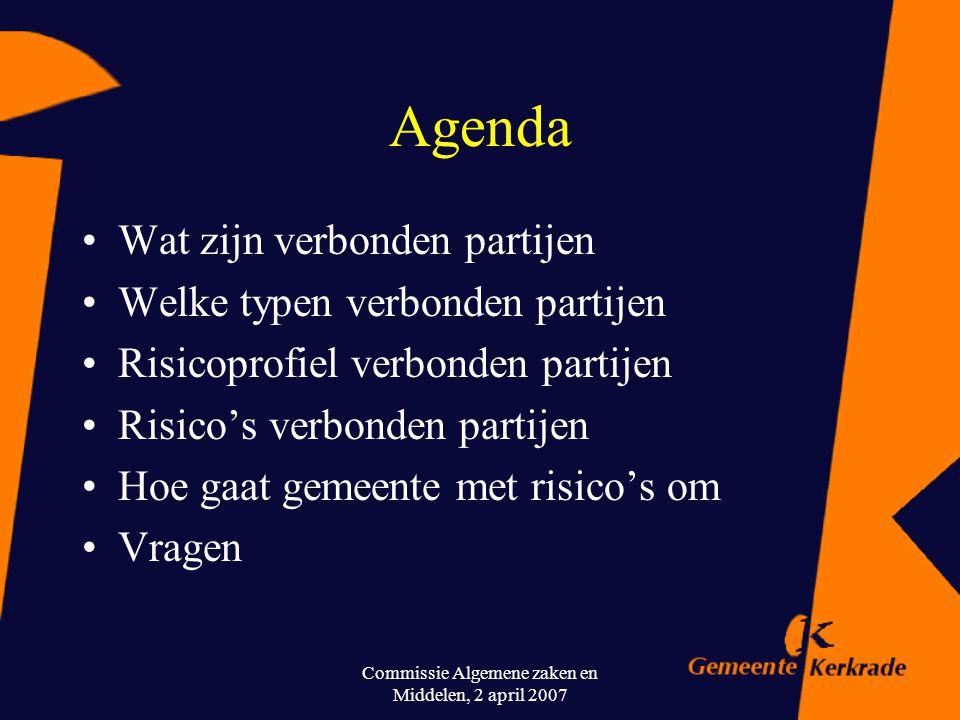 Commissie Algemene zaken en Middelen, 2 april 2007