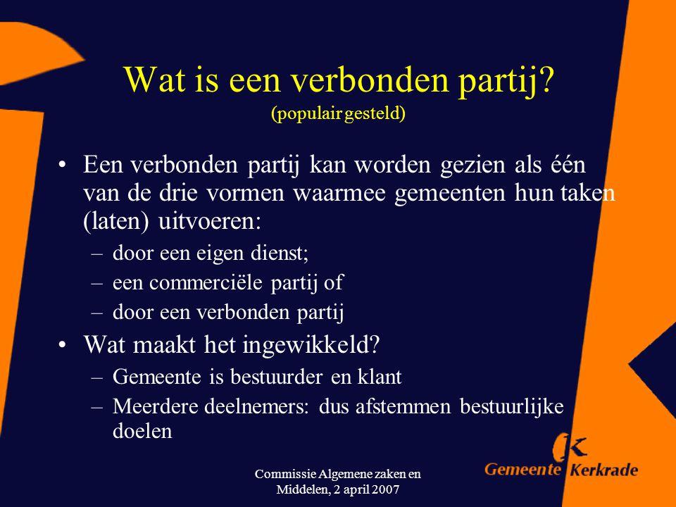 Wat is een verbonden partij (populair gesteld)
