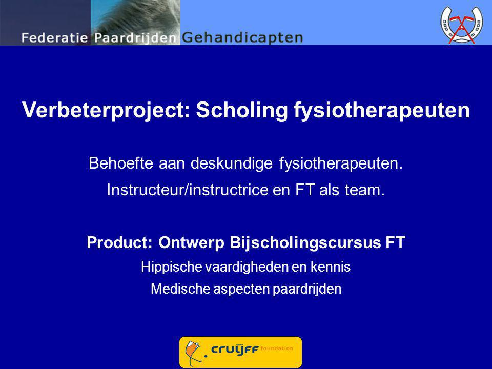 Verbeterproject: Scholing fysiotherapeuten