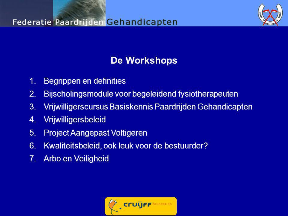 De Workshops Begrippen en definities