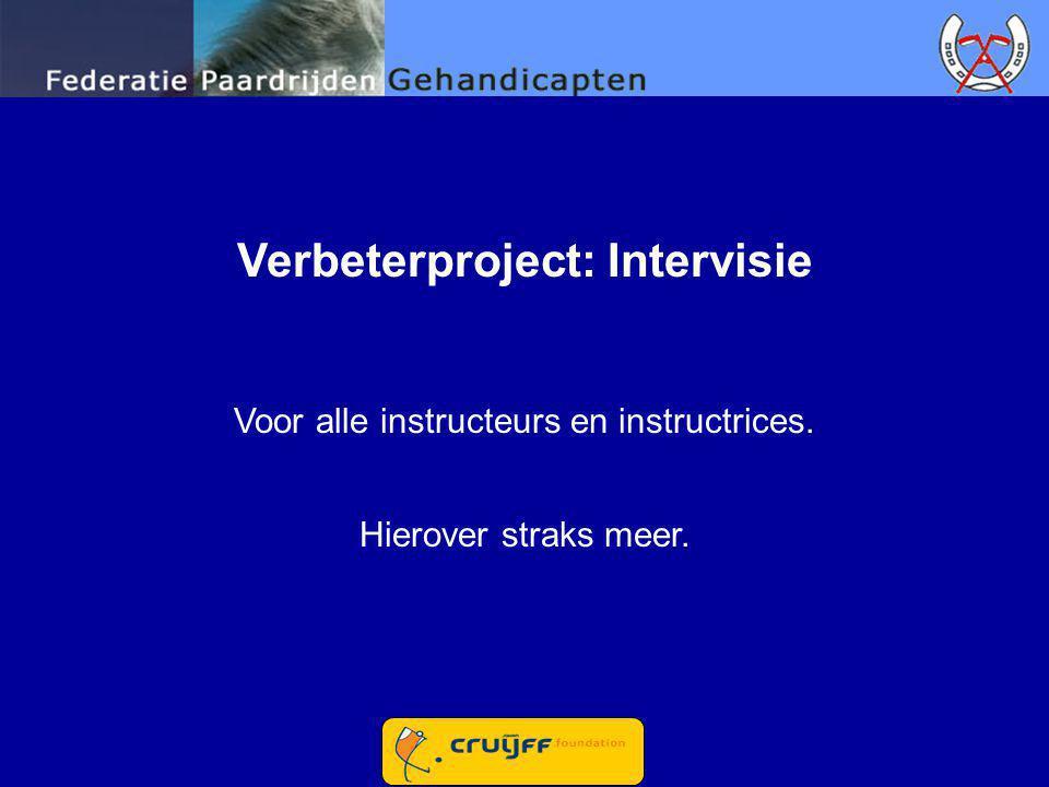 Verbeterproject: Intervisie