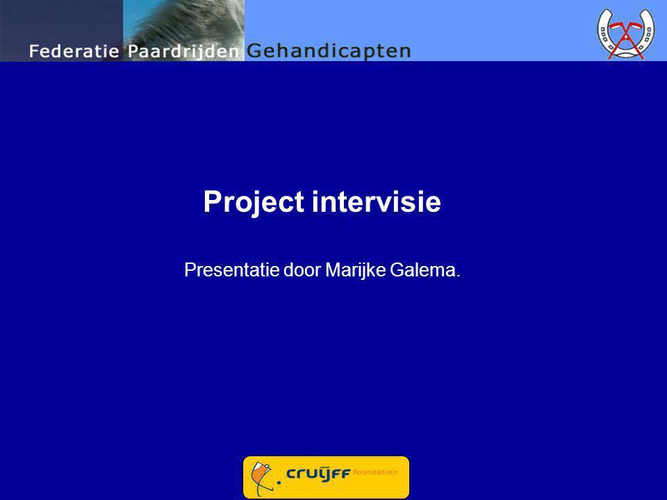 Presentatie door Marijke Galema.