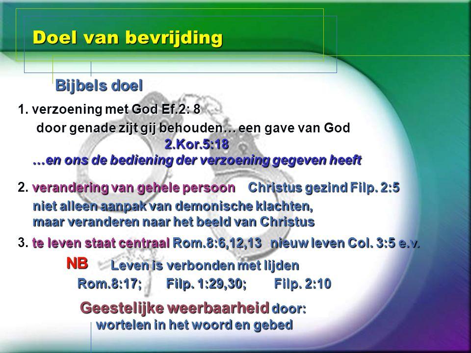 Doel van bevrijding Bijbels doel NB
