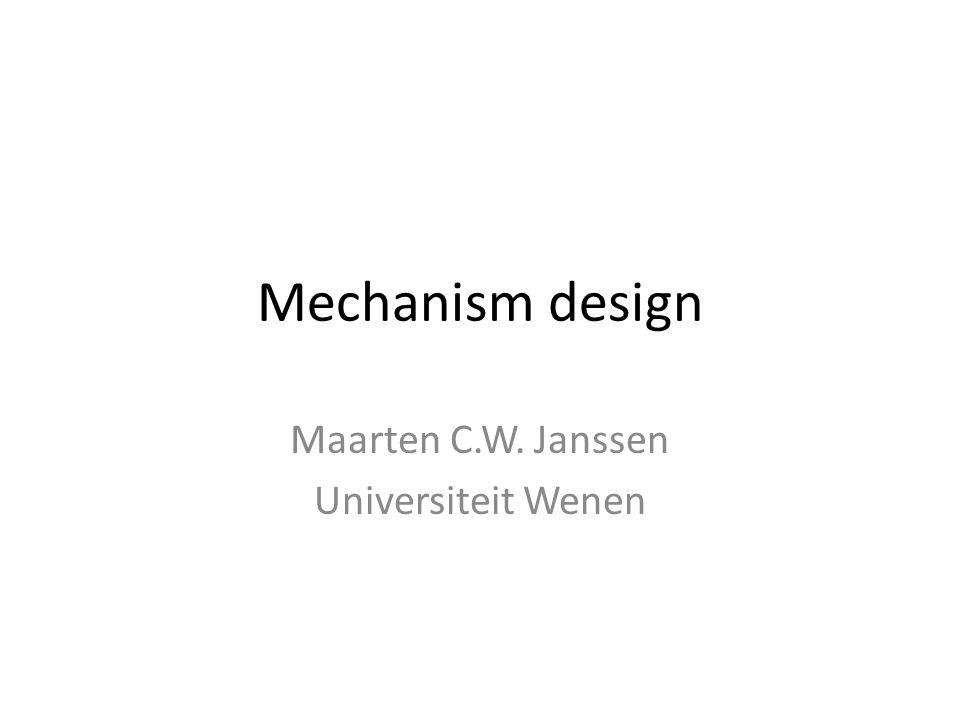 Maarten C.W. Janssen Universiteit Wenen