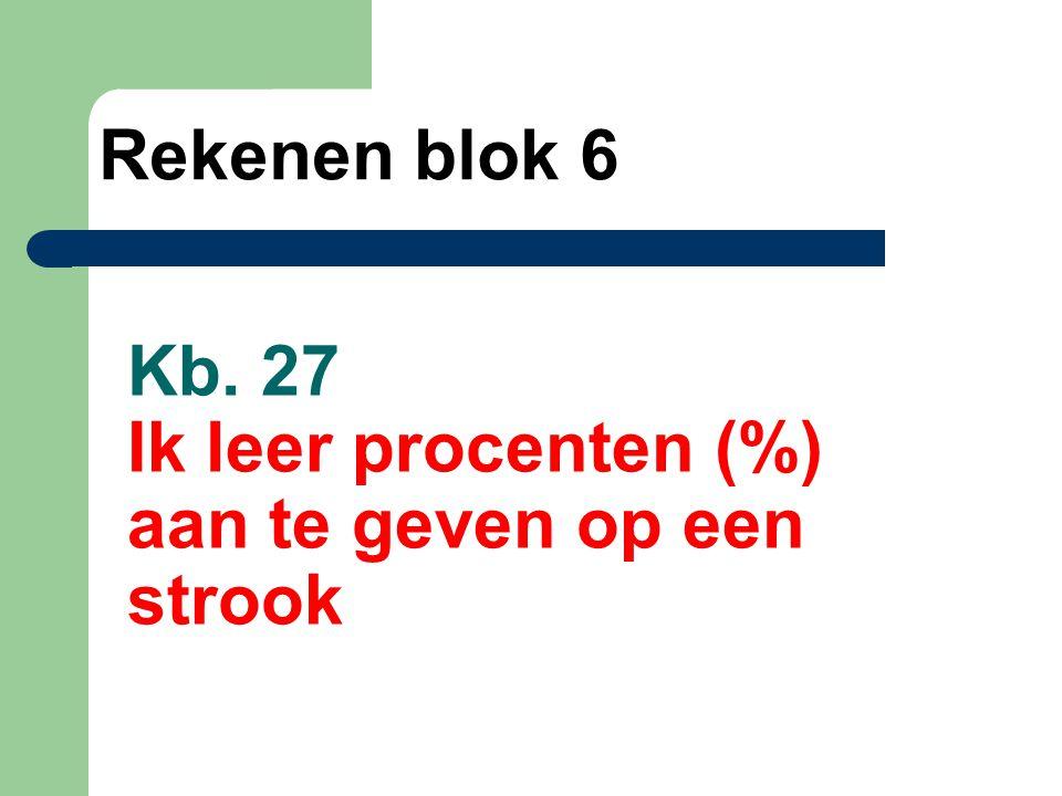 Kb. 27 Ik leer procenten (%) aan te geven op een strook