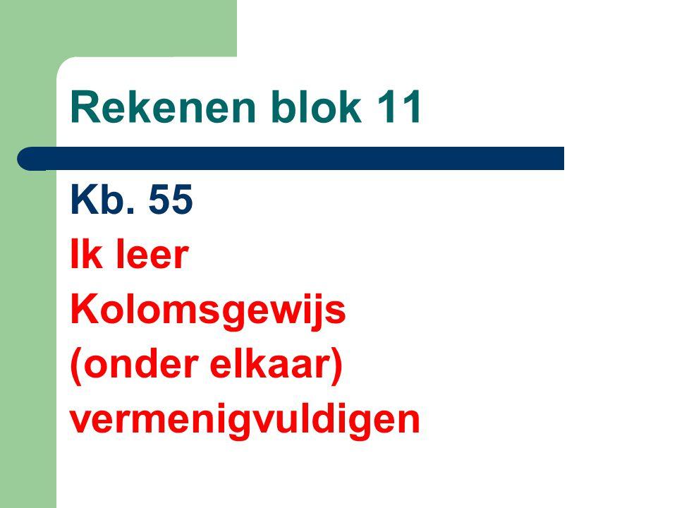Rekenen blok 11 Kb. 55 Ik leer Kolomsgewijs (onder elkaar)