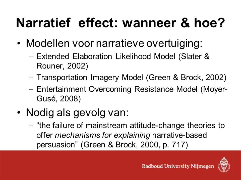 Narratief effect: wanneer & hoe
