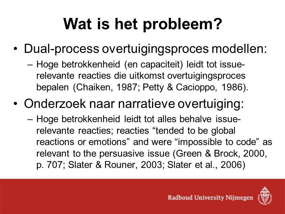 Wat is het probleem Dual-process overtuigingsproces modellen: