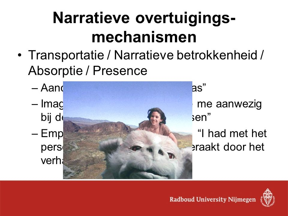 Narratieve overtuigings-mechanismen