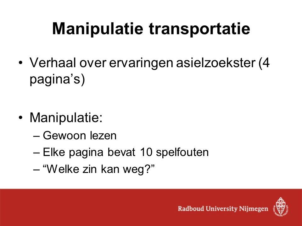 Manipulatie transportatie