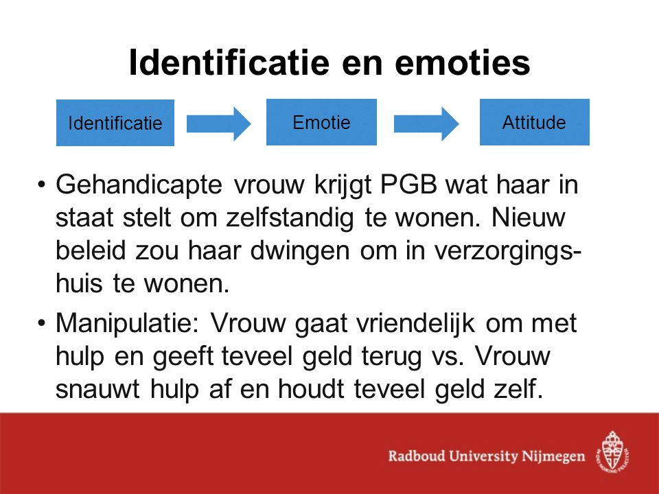 Identificatie en emoties