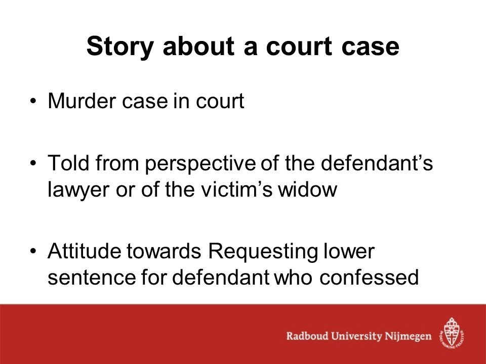 Story about a court case