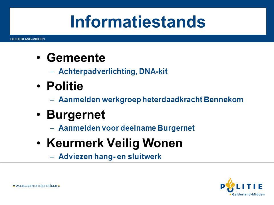 Informatiestands Gemeente Politie Burgernet Keurmerk Veilig Wonen