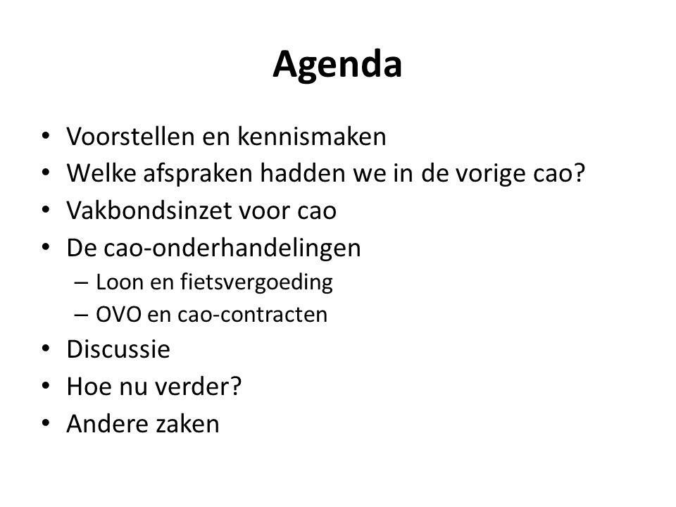 Agenda Voorstellen en kennismaken