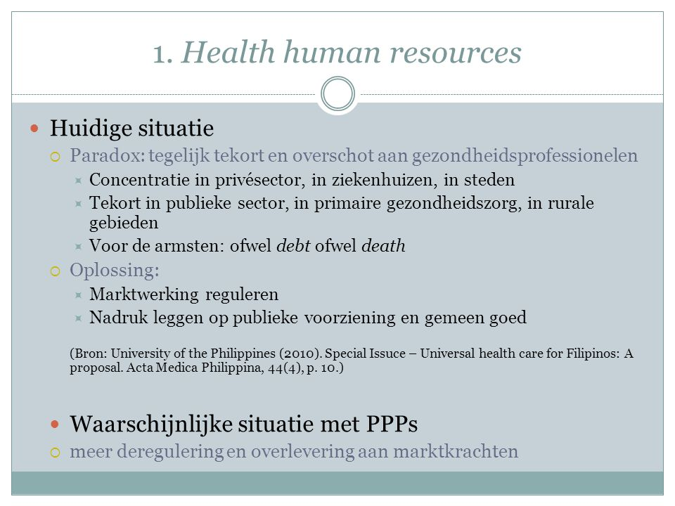 1. Health human resources