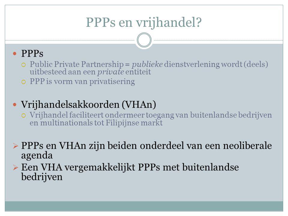 PPPs en vrijhandel PPPs Vrijhandelsakkoorden (VHAn)