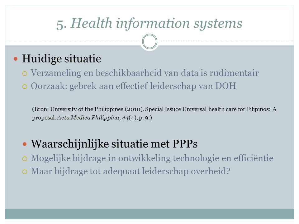 5. Health information systems