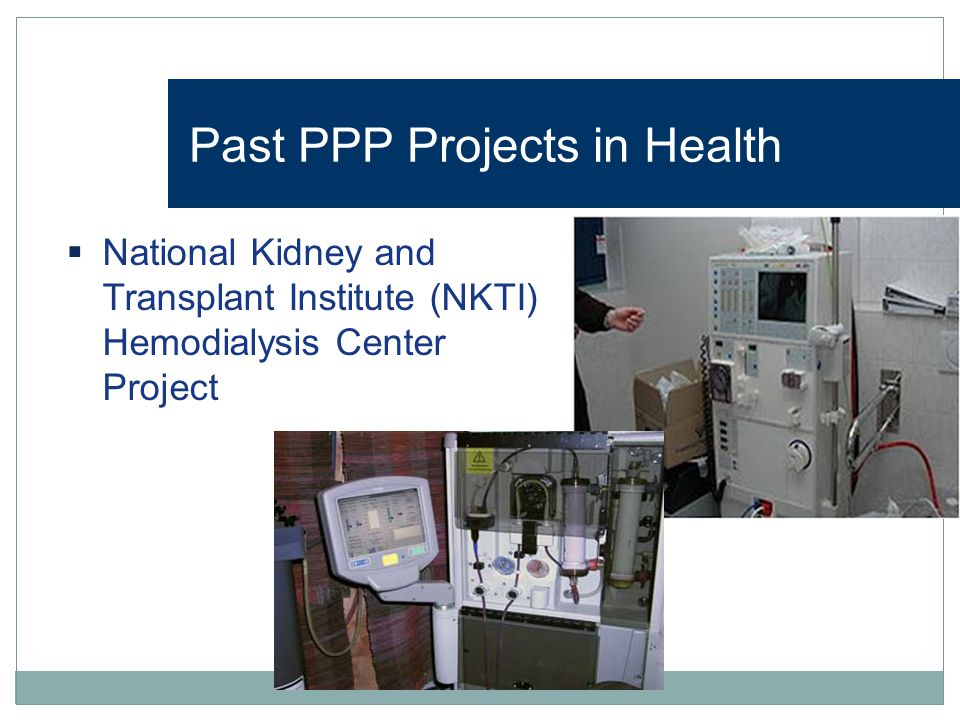 Past PPP Projects in Health