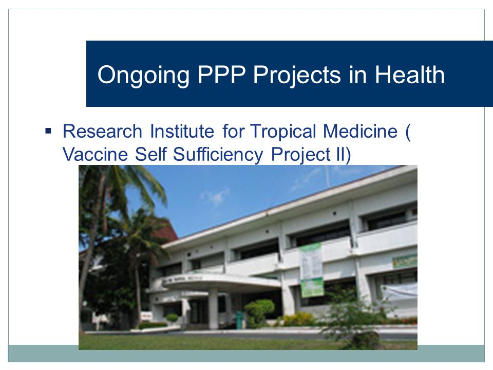 Ongoing PPP Projects in Health