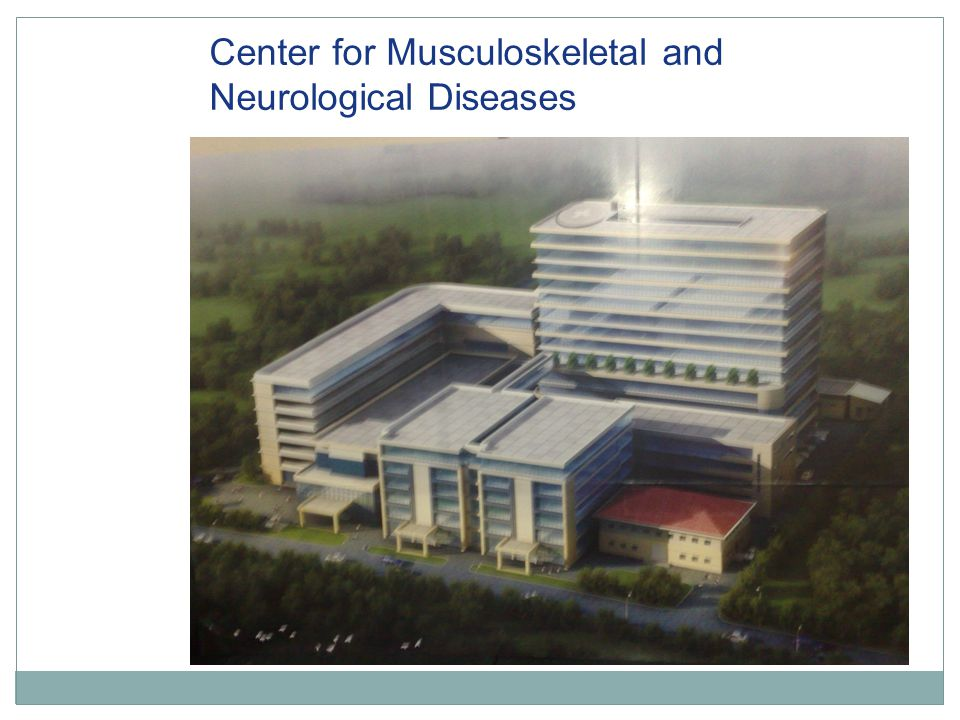 Center for Musculoskeletal and Neurological Diseases