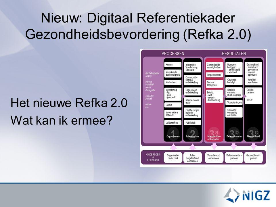 Nieuw: Digitaal Referentiekader Gezondheidsbevordering (Refka 2.0)