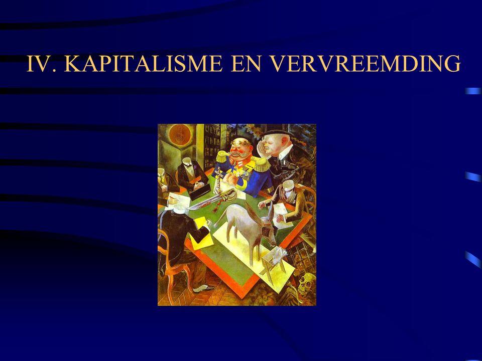 IV. KAPITALISME EN VERVREEMDING