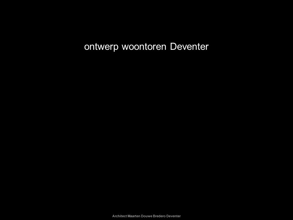 ontwerp woontoren Deventer