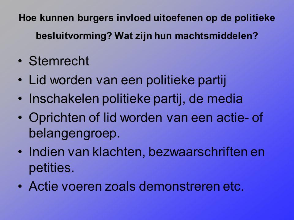 politieke partij oprichten